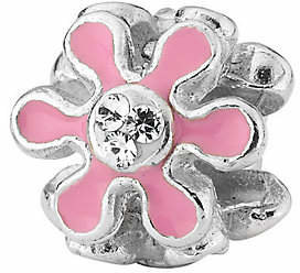 Prerogatives Sterling Pink Flower with Swarovski Crystal Bead $44 thestylecure.com