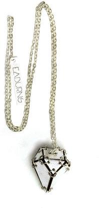 EABurns The Metallic Diamond Pendant, Silver