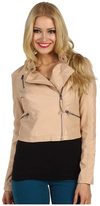 Free People Sunburst Moto Jacket (Nude) - Apparel