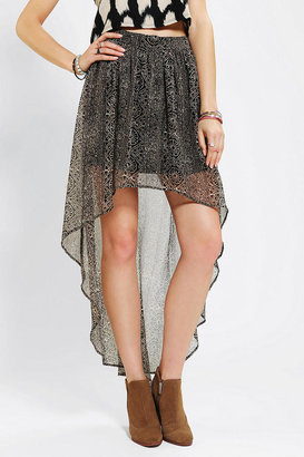 Sachi Ecote High/Low Chiffon Skirt