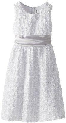 Rare Editions Girls 7-16 Spiral Soutache Dress
