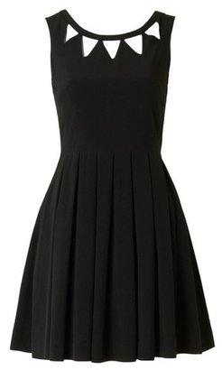 Louche London Echo Cut Out Dress Black