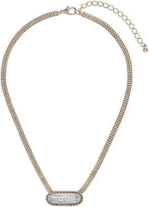Topshop Premium White Stone Ditsy Necklace