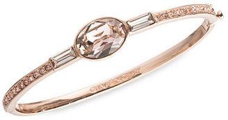Givenchy Rose Gold Tone and Crystal Bangle Bracelet
