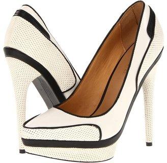 L.A.M.B. Ohio (Black/White) - Footwear