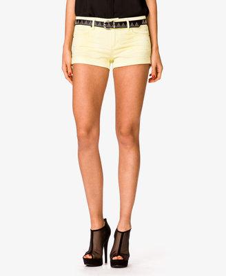 Forever 21 Perma-Creased Cuffed Denim Shorts