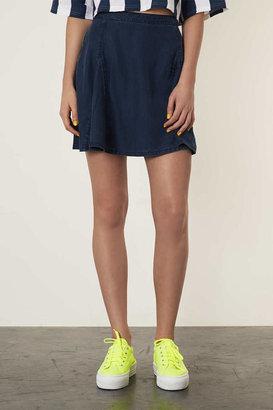 Denim Tencel MOTO Flippy Skirt
