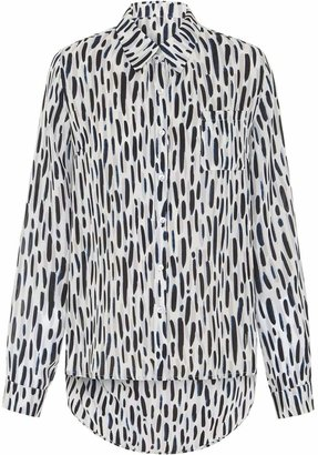 Abigail London - Silk Animal Print Ali Shirt With Backless Detail