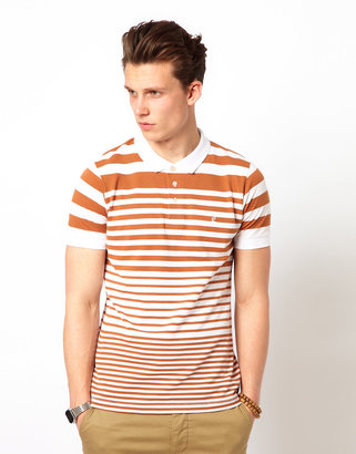 French Connection Polo Shirt Striped Pique