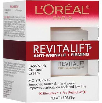L'Oreal Revitalift Face/Neck Contour Cream, Anti-Wrinkle + Firming Moisturizer