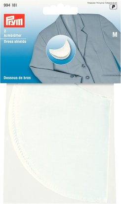Prym White Dress Shields, Large, 1 Pair