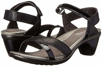 Naot Footwear Cheer (Jet Black Leather/Black Patent Leather) Women's Dress Sandals