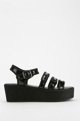 Urban Outfitters Deena & Ozzy Valerie Glossy Platform Sandal