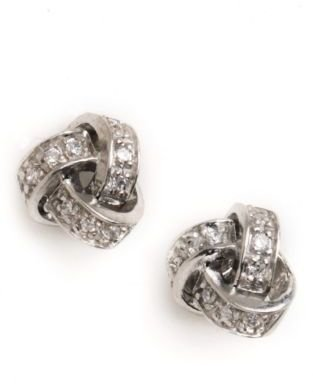 Lord & Taylor Sterling Silver Love Knot Stud Earrings