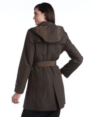 Portrait Double Breasted Trench Coat