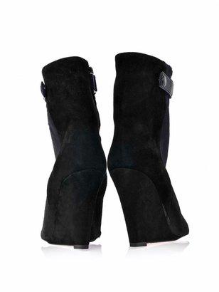 Isabel Marant Sade bi-colour wedge boots