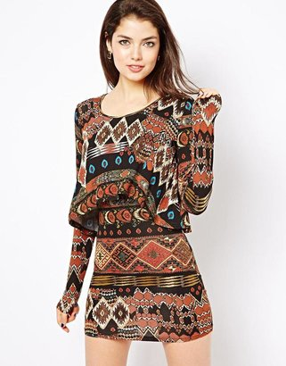 House of Dereon Printed Dress