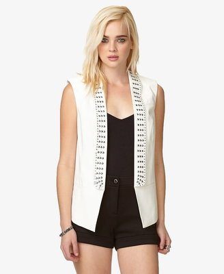 LOVE21 LOVE 21 Sleeveless Studded Blazer