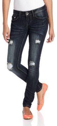 Dollhouse Juniors Joplin Destructed Skinny Jean