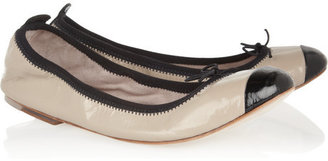Bloch Two-tone patent-leather ballet flats
