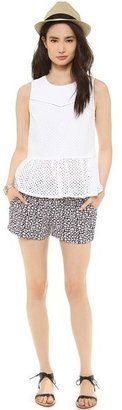 Juicy Couture Starbright Floral Crepe Shorts