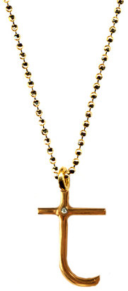 Ariel Gordon T Initial Pendant Necklace