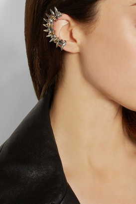 Swarovski VICKISARGE Speakeasy palladium-plated crystal ear cuff
