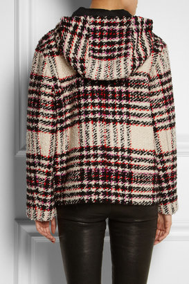 Marni Bouclé-tweed hooded jacket