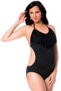 A Pea in the Pod Halter Maternity One Piece Swimsuit