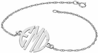 JCPenney FINE JEWELRY Personalized Sterling Silver 20mm Monogram Bracelet