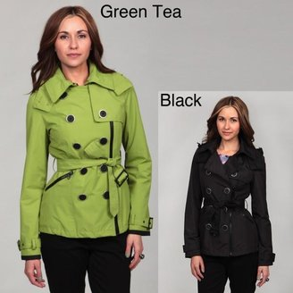 Miss Sixty Women's Double-Breasted Asymmetrical Zip Trench Coat $37.49 thestylecure.com