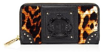 Juicy Couture Animal Printed Velour Continental Wallet