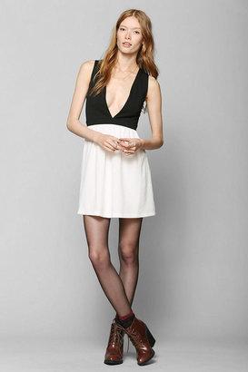 Sparkle & Fade Deep-V Fit & Flare Dress