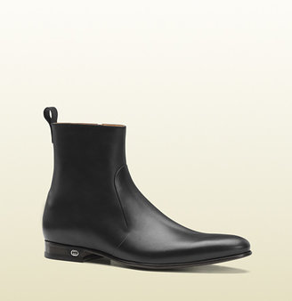 Gucci Black Leather Boot