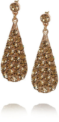 Philippe Audibert Sottoeveste gold-plated Swarovski crystal earrings