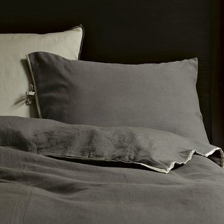 west elm Linen Cotton Duvet Cover + Shams - Slate