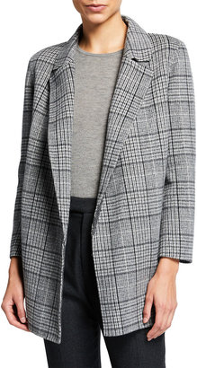 Theory Clairene N Check Wool-Cashmere Coat