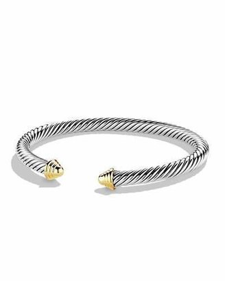 David Yurman Cable Classics Bracelet with Gold $495 thestylecure.com