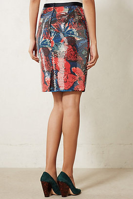 Anthropologie Sugared Fleur Pencil Skirt