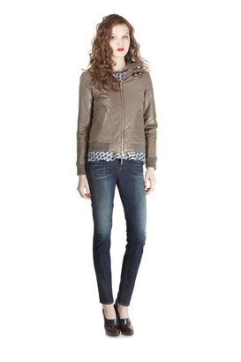 Marc by Marc Jacobs Kent Leather Bomber Jacket