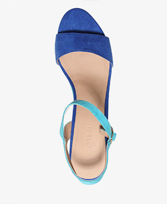 Forever 21 Colorblocked Wedge Sandals