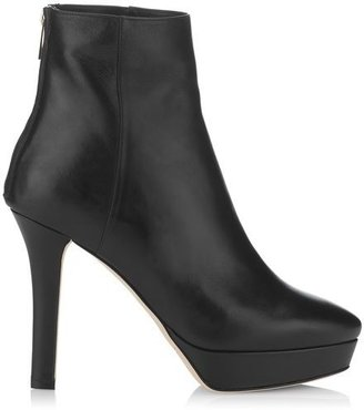 Jimmy Choo Might Nappa Leather Platform Ankle Boots