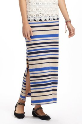 Anthropologie French Stripes Maxi Sweater Skirt