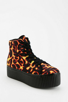 Jeffrey Campbell Hiya Red Fire Flatform-Sneaker