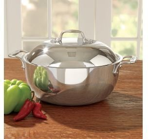 All-Clad Tri-Ply Stainless Steel Dutch Oven with Lid, 5-1/2 quart