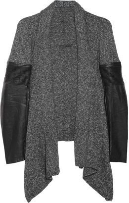 Maje Wool and leather cardigan