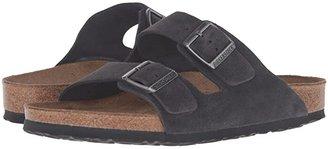 Birkenstock Arizona Soft Footbed - Suede (Unisex) (Taupe Suede) Sandals