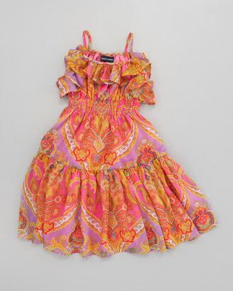 Ralph Lauren Paisley Chiffon Dress