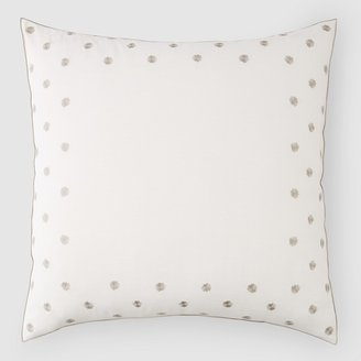 Vera Wang Knots Embroidered Euro Sham