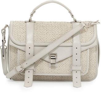 Proenza Schouler PS1 Medium Woven Shoulder Bag, Cream
